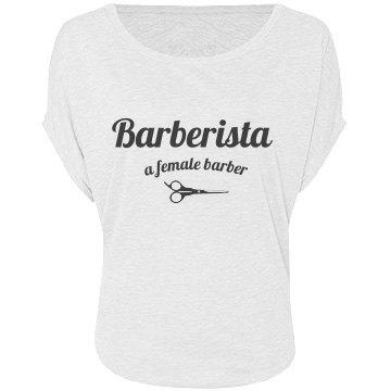 Barberista off the Shoulder - White