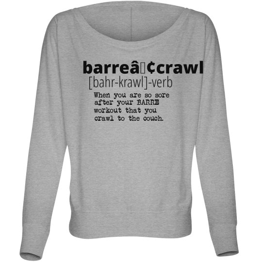 Barre Crawl