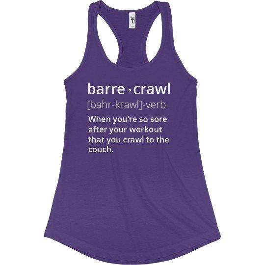 Barre-Crawl Tank