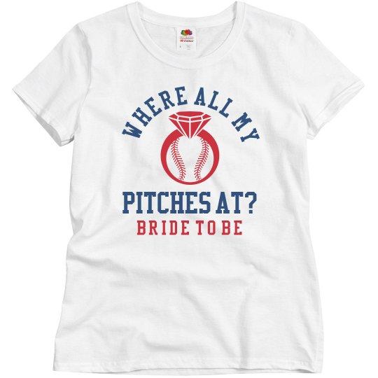 Baseball Bachelorette Girls 1 Bride to Be