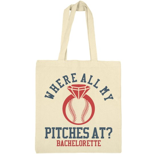 Baseball Bachelorette Party Favor Bag 1