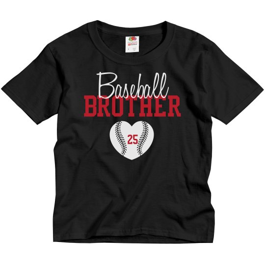 Baseball Brother - enter # heart