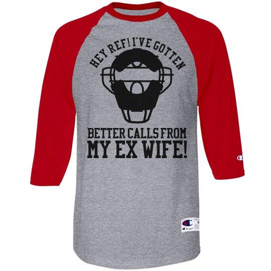 Baseball Dad Umpire Heckler Custom Baseball Jersey
