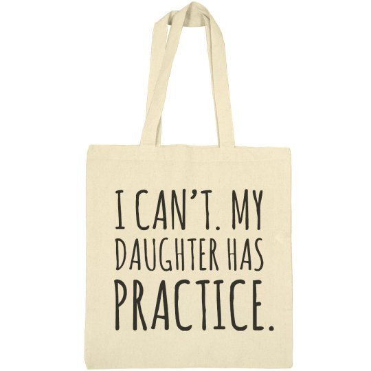 Baseball Daughter Has Practice Tote