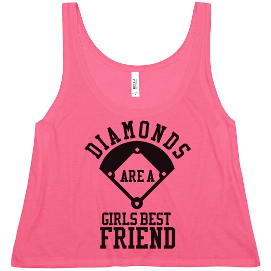 Baseball Diamonds Are A Girls Best Trendy Crop Top