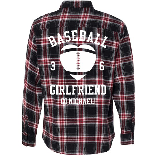 Baseball Girl Flannel
