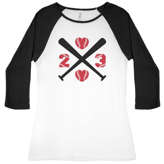 Baseball Girlfriend Love With Custom Art And Text!