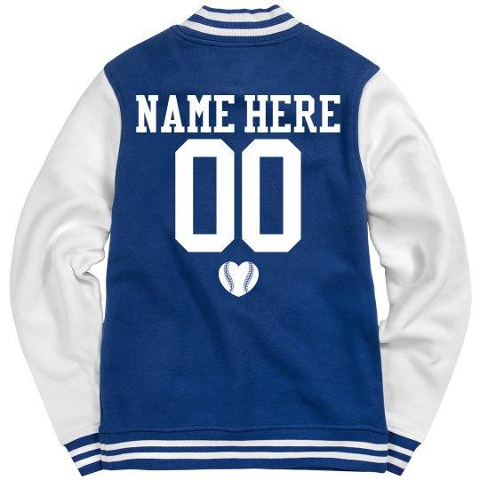 Baseball Girlfriend Trendy Jacket Custom Name Number