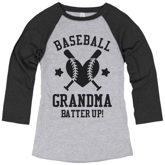 Baseball Grandma Batter Up!