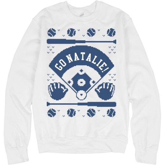 Baseball Mom Christmas Sweater Gift