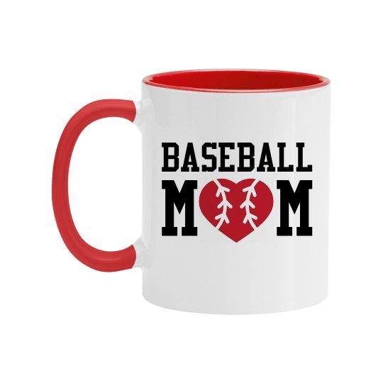Baseball Mom Color Coffee Mug
