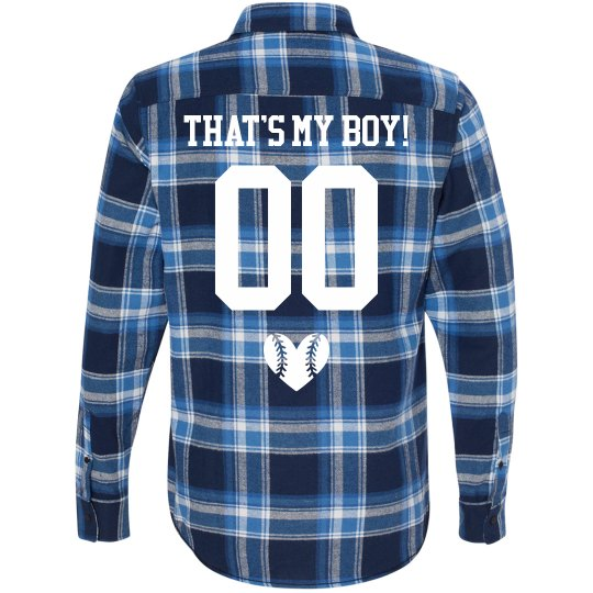 Baseball Mom Flannel Custom Gear