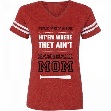 Baseball mom funny quote custom for Custom baseball tee shirts