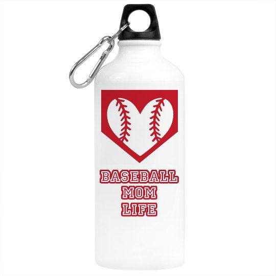 Baseball Mom Life Water Bottle