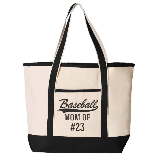 Baseball Mom Of Custom Number