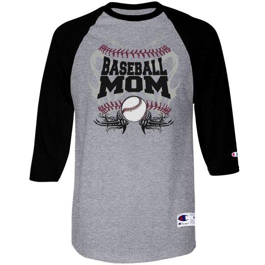 Baseball mom tribal blue