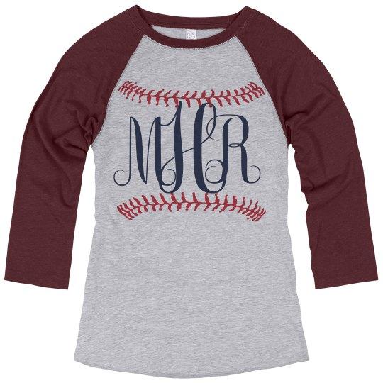 Baseball Monogram Raglan