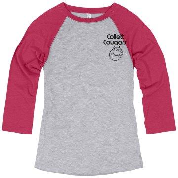 Baseball shirt graphics font Cougar head