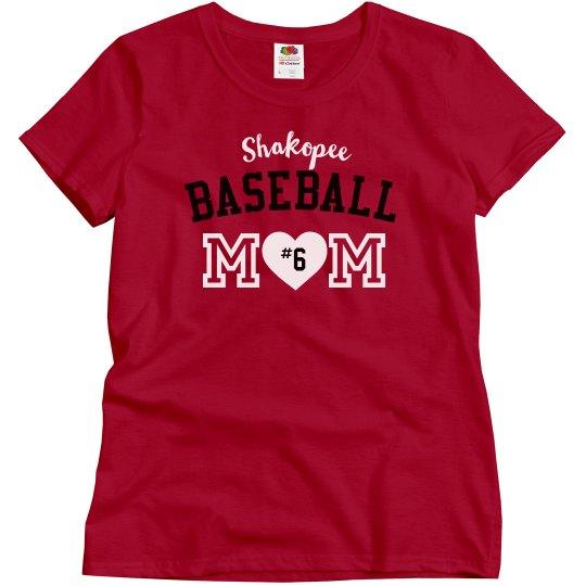 Basic Baseball Mom, Red
