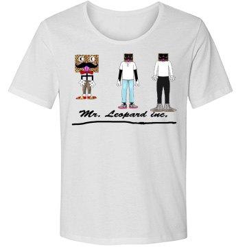 Basic mr. Leopard inc, logo short sleeve shirt