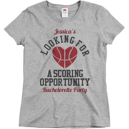 Basketball Bachelorette Party Bridesmaids to Score Tee