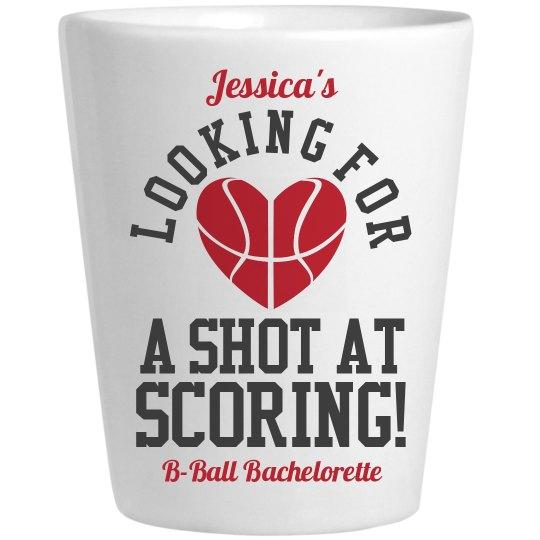Basketball Bachelorette Party Wordplay Shot Glass