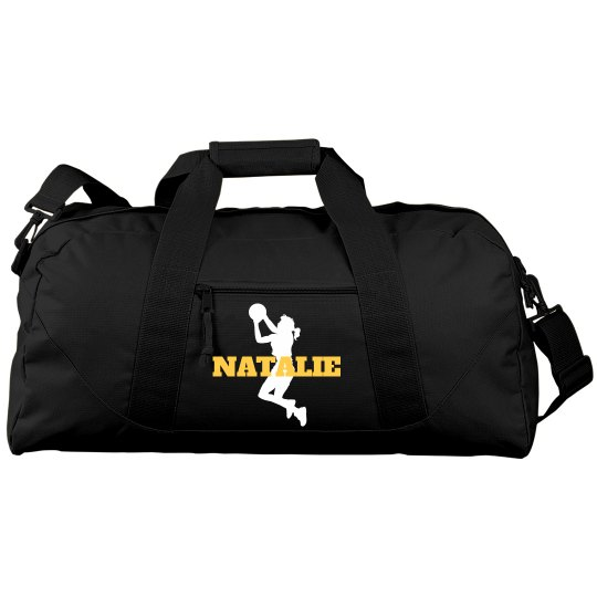 Basketball Gear Duffel Bag With Custom Name