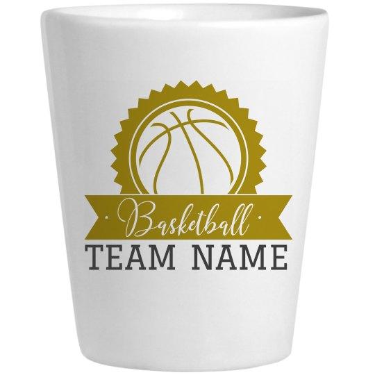 Basketball Shot Glass Custom Name