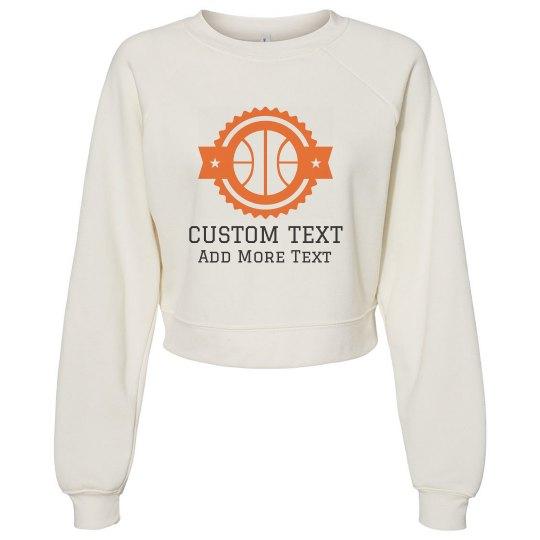 Basketball Text Custom Sweater