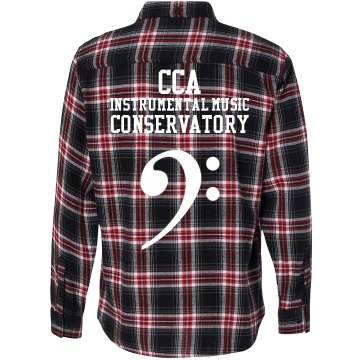 Bass Clef Flannel