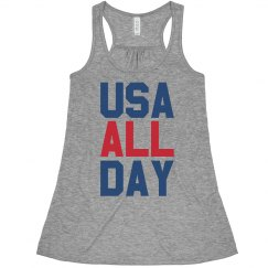 USA All Day Crop Top