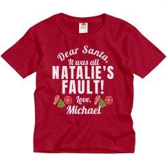 Dear Santa Sibling Rivalry Shirt With Custom Names!