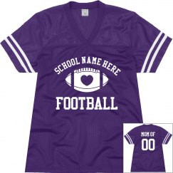 Best Selling Football Mom Jersey With Custom Back