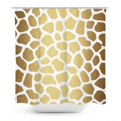 Gold Giraffe Animal Print