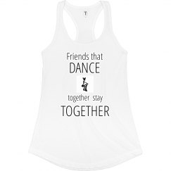 SWMG logo Friends DANCE Racerback Tank