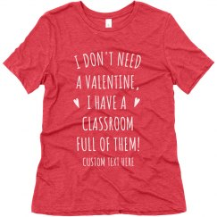 Custom Teacher Valentine's Day Tee