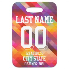 Custom Sports Number Luggage Tag