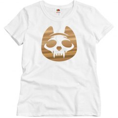 Metallic Cat skull Halloween Tee