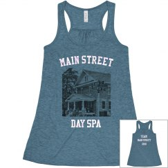 TEAM Main Street Salon Pic Ladies Flowy Racerback Tank