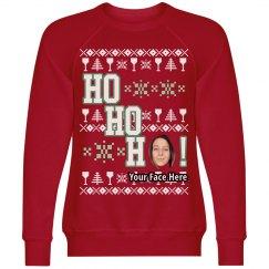 Ho, Ho, Ho Custom Face Ugly Sweater