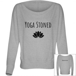 """Yoga Stoned """"Off the shoulder"""" long sleeve tee"""