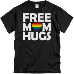 Unisex Basic Tee Free Mom Hugs White Font