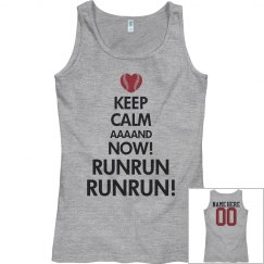 Keeo Calm Baseball Mom Stolen Base Tank Top