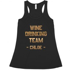 Wine Drinking Team Custom Tank