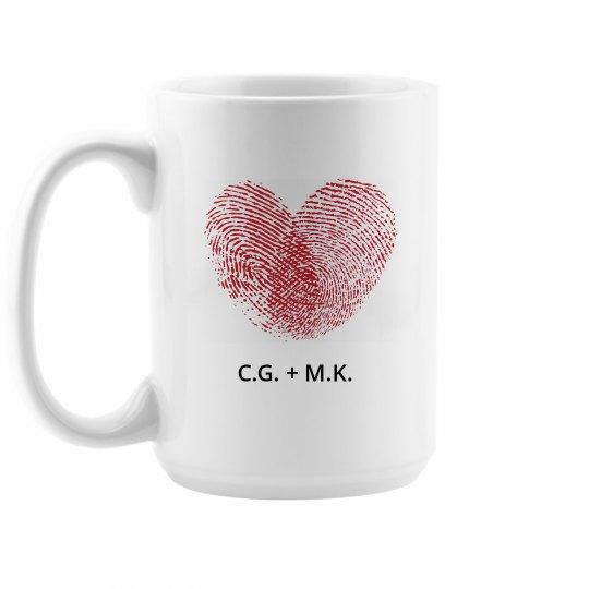 Romantic Valentine Gift Mug 15oz Ceramic Coffee Mug