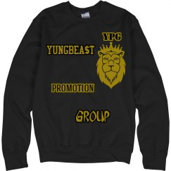 YPG YUNGBEA$T PROMO BLACK & GOLD SWEATERSHIRT