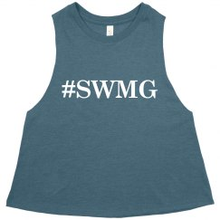 SWMG Hashtag Cropped Tank