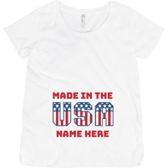 4th Of July Made In The USA Maternity Tee