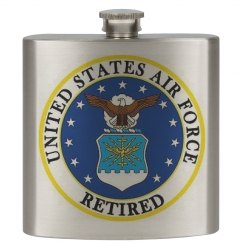 Air Force Retired Flask