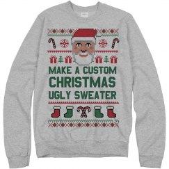8abd701d820e Custom Xmas Santa Ugly Sweater